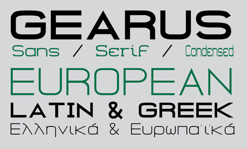GEARUS Free Font Family
