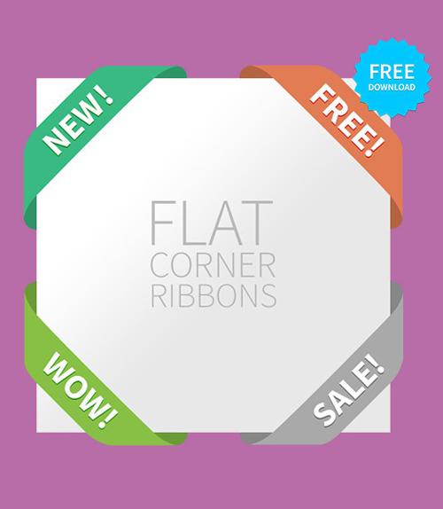 Flat Corner Ribbons
