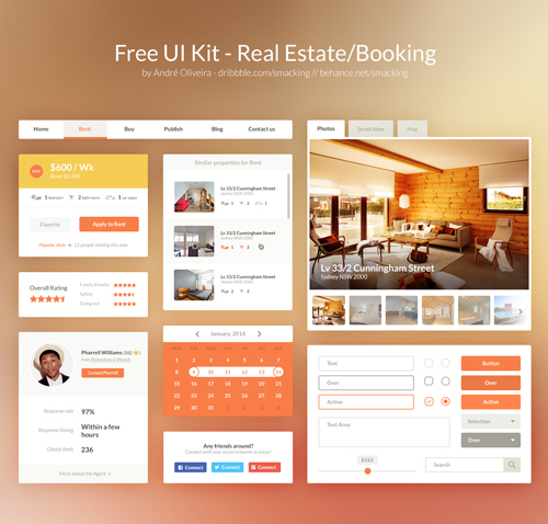 Real Estate/Booking UI Kit