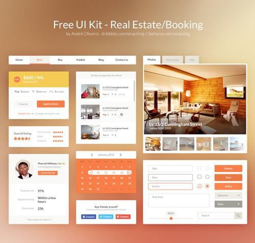 Real Estate/Booking UI Kit