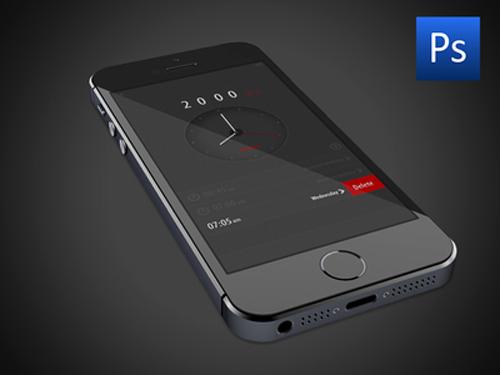 Free PSD Alarm App Uİ