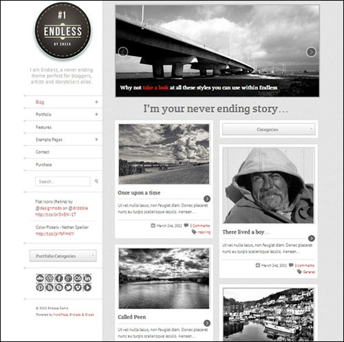 Endless – Infinite scrolling WordPress Theme