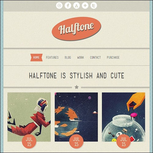Halftone – WordPress Theme