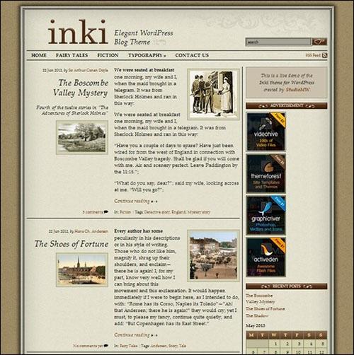 Inki – Elegant Blog Theme