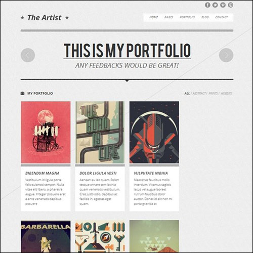 The Artist – Clean Responsive Portfolio Theme