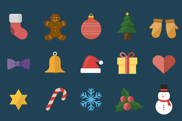 02 15 christmas holiday icons freebie 35 Brilliant Free Icon Sets for Designers