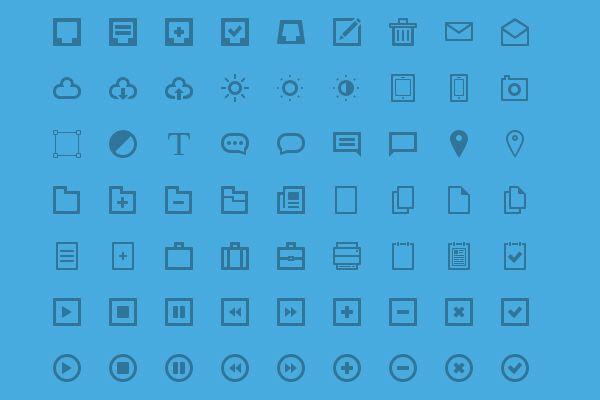 63 Blues Icons