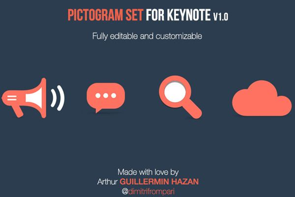 Free Pictograms for Keynote
