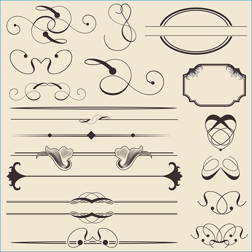 Vintage Calligraphic Decorations