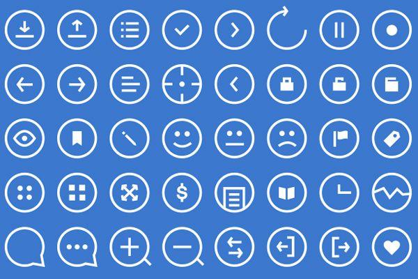 48 Round Icons