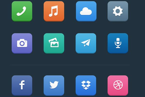 Minimalist App-Style Icons