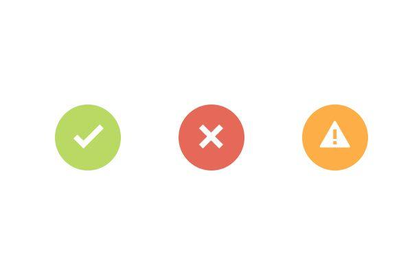 Flat Indicator Icons