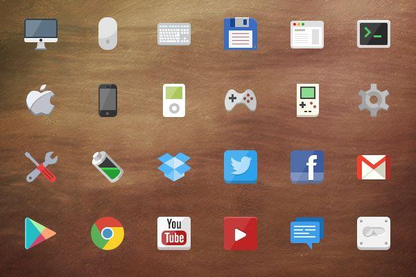 @2x Flat Iconset