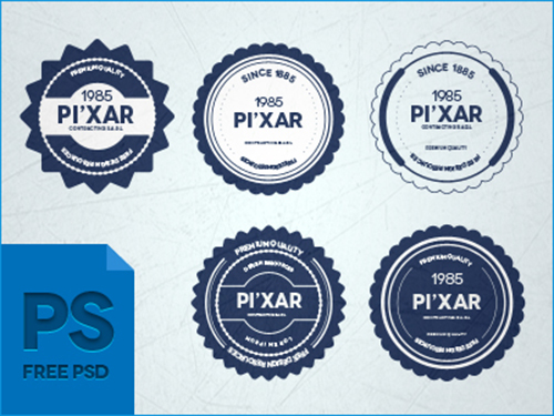 28 PSD Badges PSD File