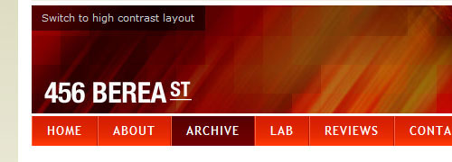 456 Berea Street – css category - screen shot.