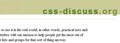 css-Discuss - screen shot.