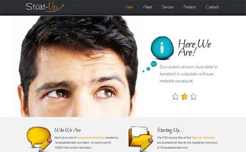 Free StartUp Business HTML5 CSS3 Template