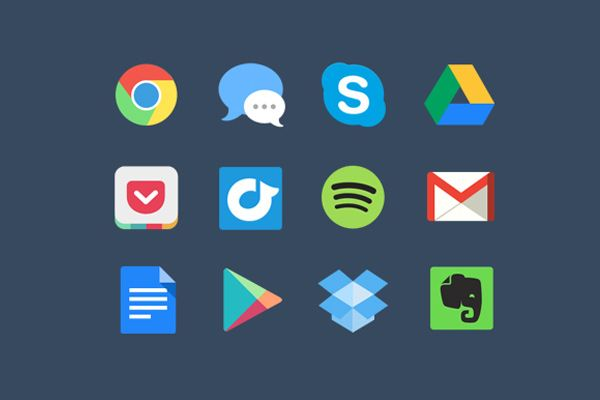 Colorful browser Icons set