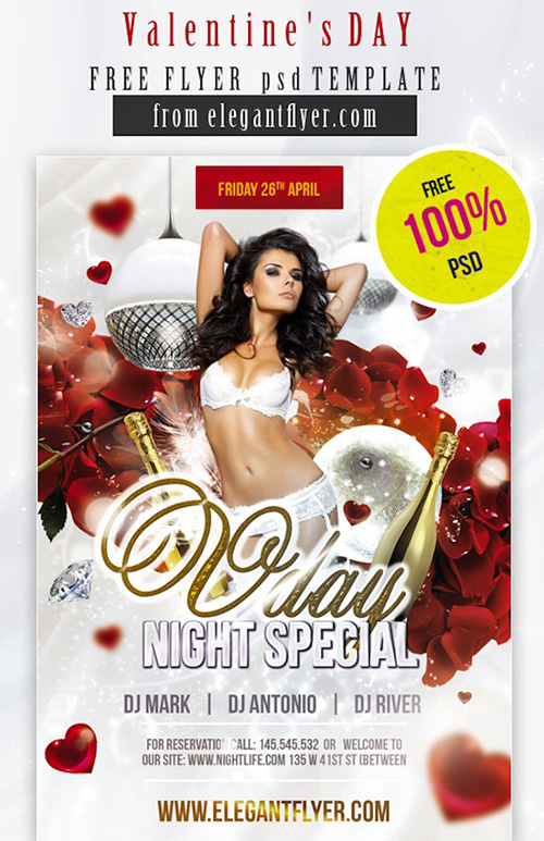 best-free-valentine's day flyer templates
