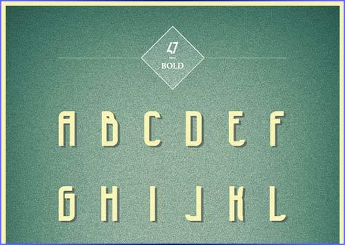 47 Free Font