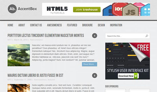 Accentbox free css3 Html5 Template