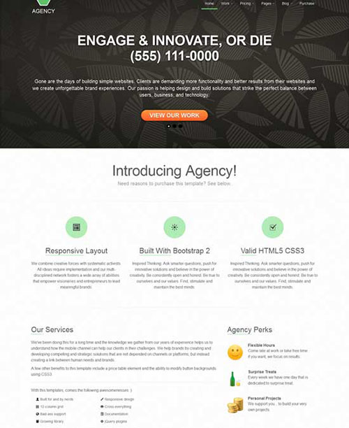 Free HTML5 Responsive Business Portfolio Template Built Using Twitter Bootstrap
