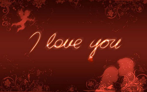 Amorous Wallpaper Tutorial in Photoshop Valentine Design
