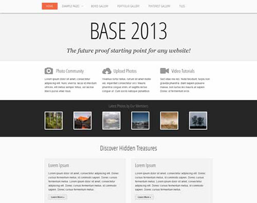 free html5 css3 templates BASE 2013