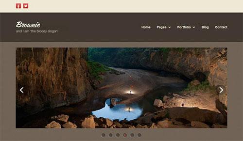 Brownie Free Responsive HTML5 CSS3 Portfolio Template