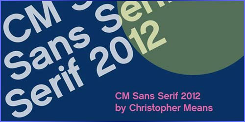 CM Sans Serif 2012 Download for free