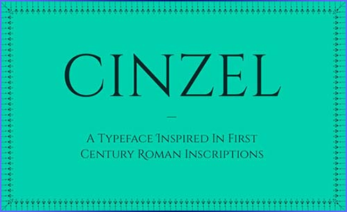 Cinzel Typeface Download for free