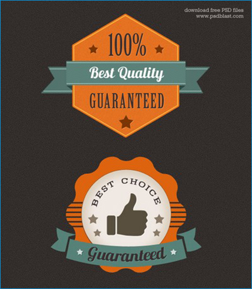 Colorful Premium Quality Web Badge