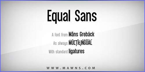 Equal Sans Download for free