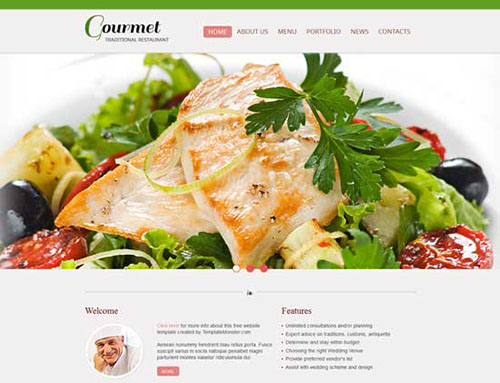 Free Foods HTML CSS3 Website Template