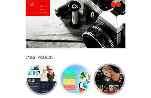 free html5 css3 templates - Photography