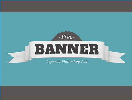 Free Layered PSD Banner Badge
