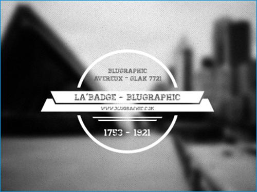 Free PSD Badge File