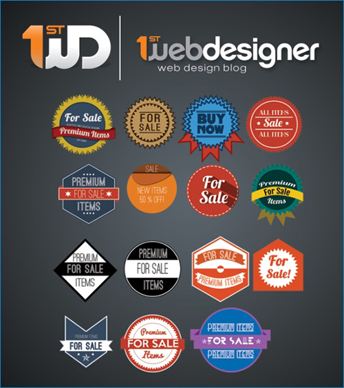 Free PSD Badges-1