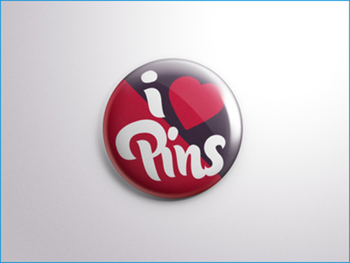 Free PSD Button Badge Pin Mock Up