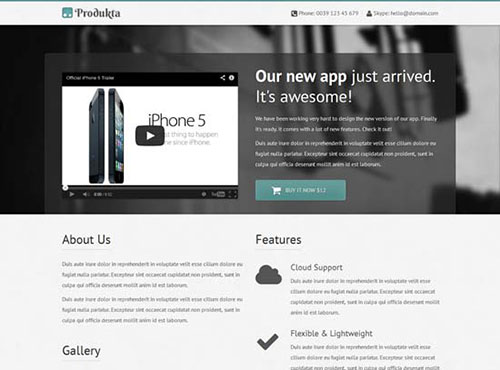 Free Template Responsive Bootstrap Product Showcase
