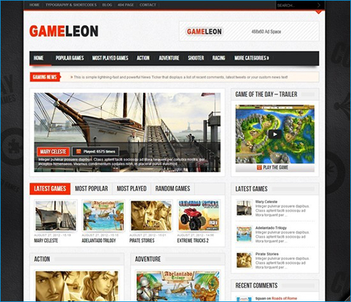 Gameleon---WordPress-Arcade-Theme