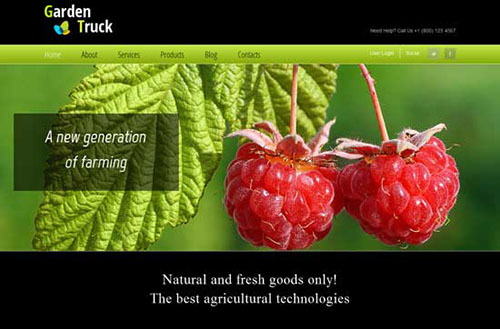free html5 css3 templates Agro - Agriculture