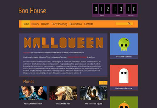 Halloween-Flat-Design-Layout-Free-HTML5-Theme