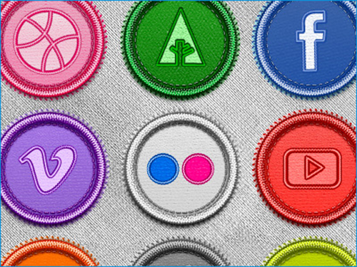Handcrafted Social Badges