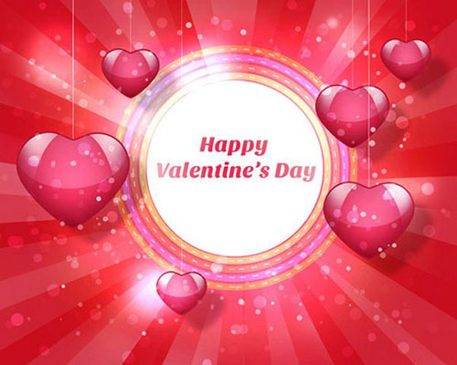 How to Create Greeting Card for Valentines Day with Cute Glossy Hearts in Adobe Photoshop CS61 Valentine Design