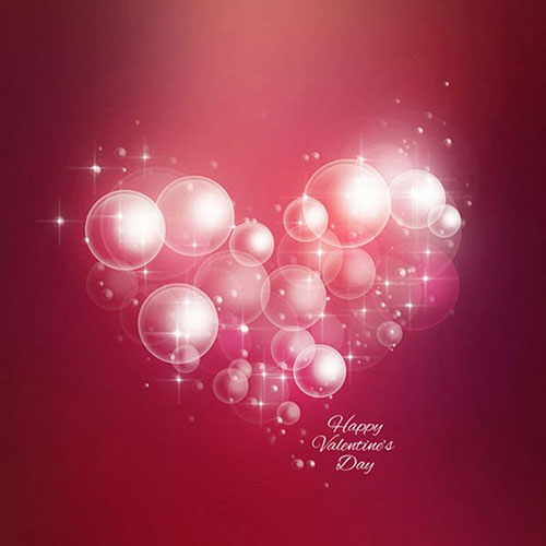 How to Create Soft Romantic Background of the Air Bubbles and Hearts in Adobe Photoshop CS62 Valentine Design