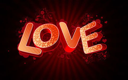 How to create 3D Love text composition1 Valentine Design