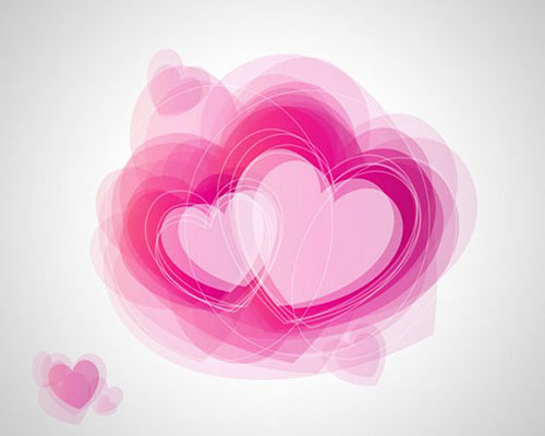 How to create abstract Valentines Day illustration with hearts in Photoshop CS52 Valentine Design