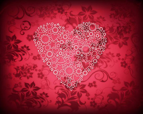 How to create elegant Valentines Day card with ornamental heart in Photoshop CS53 Valentine Design
