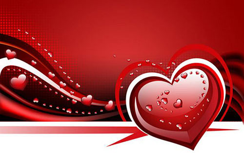 How to create waved Valentine background with hearts1 Valentine Design